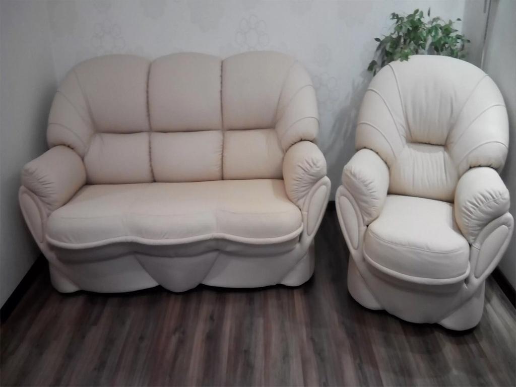 Ремонт перетяжка кожаной мебели